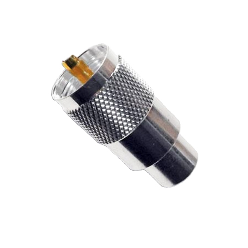 PL259 (Superior) Plugs with Gold Tips 6/7/9 mm Versions